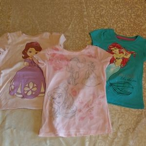 Princess T-shirts size 4T and 5